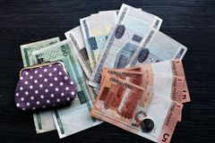 New and old belarusian money Stock Photography