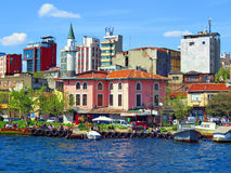 New and old building on the banks of the Bosphorus Royalty Free Stock Photography