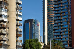 New and old buildings of Vilnius Royalty Free Stock Photography