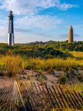 New and Old Cape Henry Lighthouses Stock Image