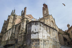 New and old cathedral at Plasencia Royalty Free Stock Image