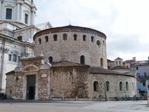 New and Old Cathedrals of Brescia Royalty Free Stock Photos