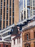 New and Old City Buildings Royalty Free Stock Photography