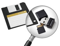 New and old data carriers Stock Photos