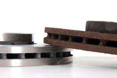 New and old disk brake rotors Royalty Free Stock Photo