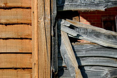 New and old fencing. New and old wooden fencing panels side-by-side Royalty Free Stock Photo