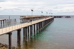 The new and old jetty at Rapid Bay South Australia on 15th March. 2018 Stock Photo