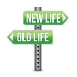 New or old life sign. Illustration design over white royalty free illustration