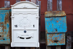 New and old mailboxes Royalty Free Stock Photos