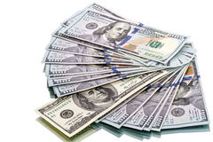New and old model 100 dollar bills Stock Photography