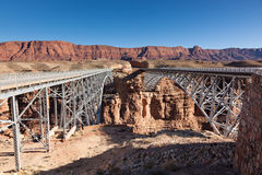 New and Old Navajo Bridges Royalty Free Stock Photography
