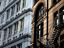 New and Old New York Buildings Royalty Free Stock Photo