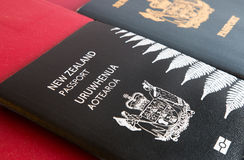 New and old New Zealand passports. New and old New Zealand passport, horizontal Royalty Free Stock Photo