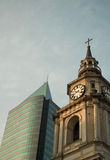 New and old santiago de chile Stock Photography