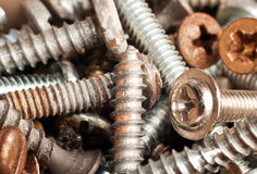 New and old screws Royalty Free Stock Images