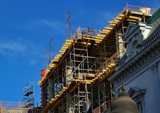 New and old style of construction Royalty Free Stock Photos