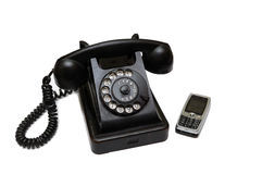New and old telephone Royalty Free Stock Photography