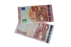 New and old ten euro banknote europa series Royalty Free Stock Image