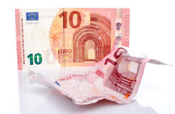 New and old ten euro banknote Stock Photos