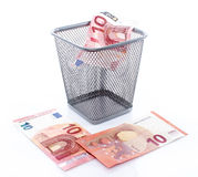 New and old ten euro banknote Royalty Free Stock Photography