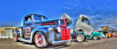 New and old trucks Royalty Free Stock Photos