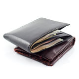 New and old wallet Stock Images
