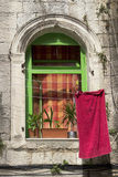 New in old window Royalty Free Stock Images