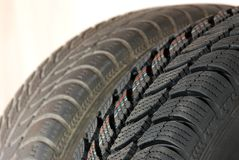 New and old winter car tires Stock Image