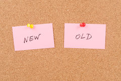 New and old words Royalty Free Stock Image