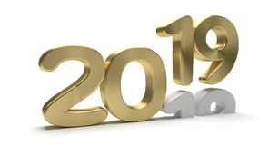 2019 new and 2018 old year 3d. Render Stock Image