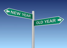 New old year road sign 3d illustration Stock Images