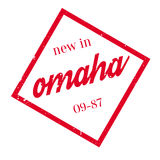 New In Omaha rubber stamp Stock Photo