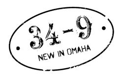 New In Omaha rubber stamp Stock Image