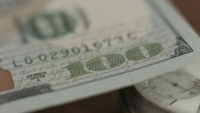 New one hundred dollar bill, 2009, conspiracy, financial system. Stock footage stock video footage