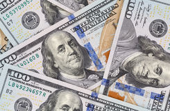 New one hundred dollars banknotes Royalty Free Stock Photography