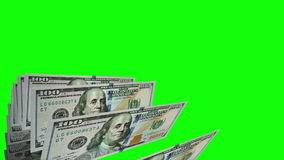 New one hundred dollars flat bills in carousel. Loop stock footage