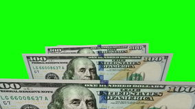 New one hundred dollars flat bills in carousel. Loop stock video