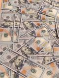 New one hundred dollars pile Stock Photo