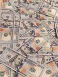 New one hundred dollars pile Stock Photo