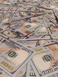 New one hundred dollars pile Stock Image