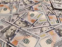 New one hundred dollars pile Stock Photography