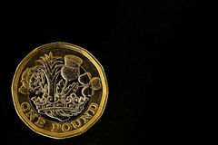 New one pound coin Royalty Free Stock Images