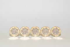 New One pound coins Stock Photography