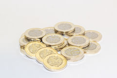 New One pound coins Royalty Free Stock Photo