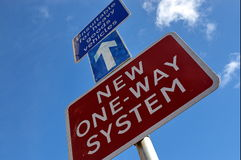 New one-way system Royalty Free Stock Photos