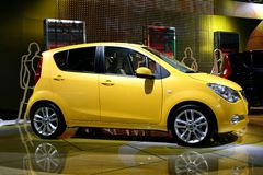 New Opel Agila. Image of an Opel Agila new model Stock Photos