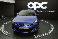 New Opel Astra OPC 2013 - Geneva Motor Show 2012 Royalty Free Stock Photography