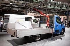 New Opel Movano with crane Royalty Free Stock Photos