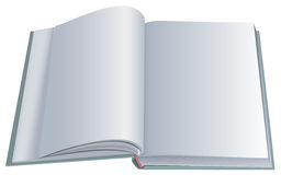 New open book with clean blank sheets. Vector 3d realistic illustration Stock Photography