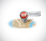 New opportunities map illustration design Royalty Free Stock Photography